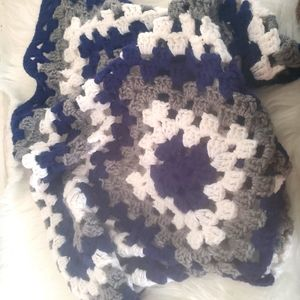 "Handmade ""Blueberry"" Crocheted Baby Blanket"